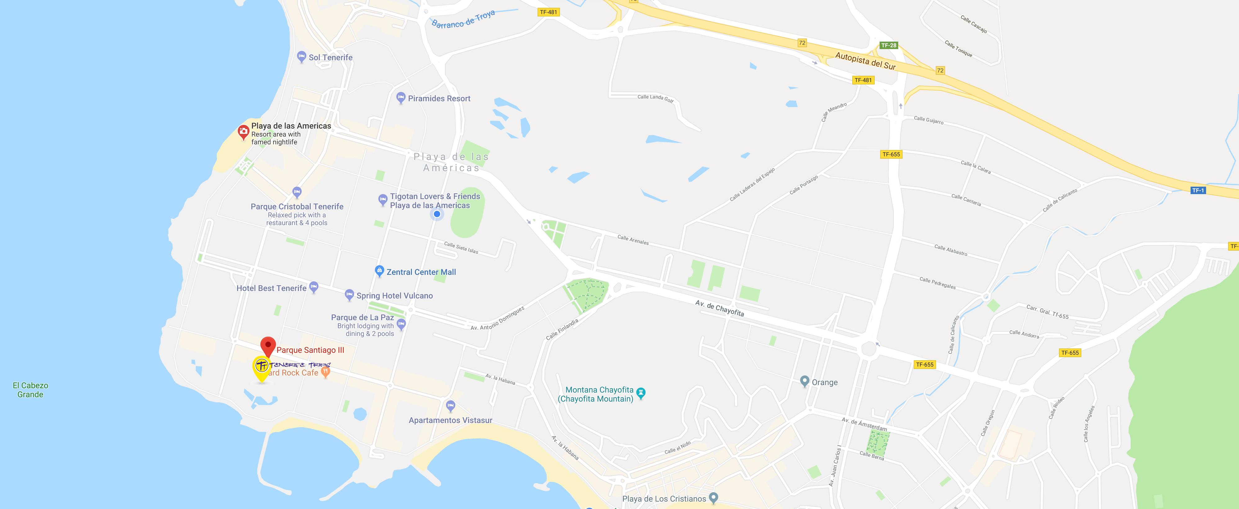 Tenerife Trips Google Map