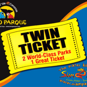 Siam Park Loro Parque twin tickets