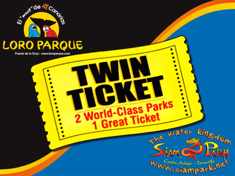 TWIN TICKET LORO PARQUE + SIAM PARK